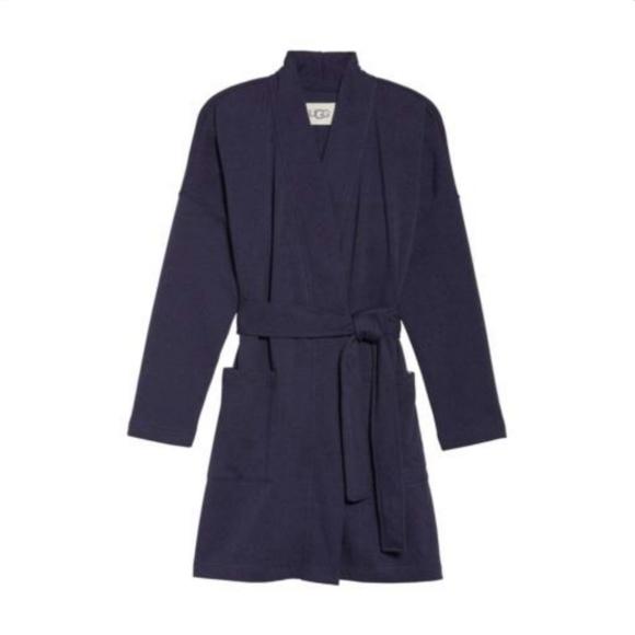 fd62860da6 UGG Braelyn Short Wrap Robe Nightshade Navy Medium